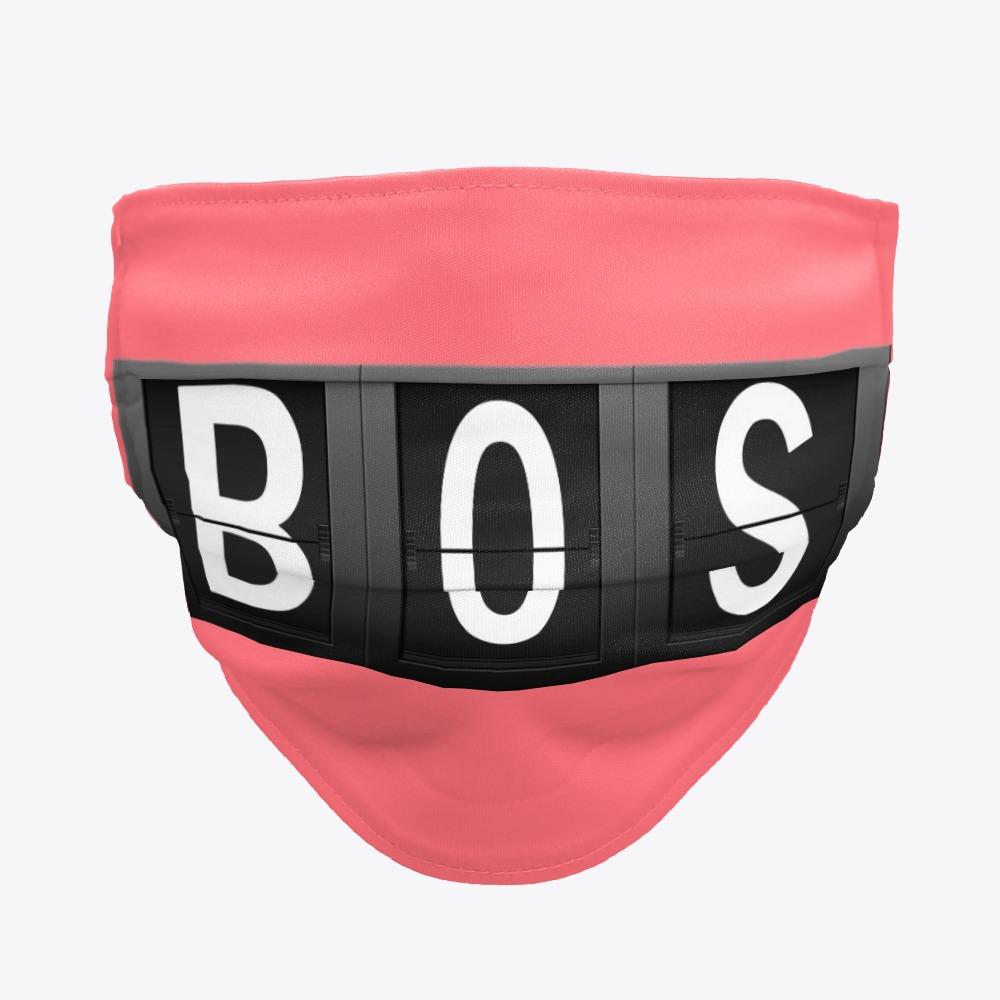 BOS Facemask, Boston International Airport Facemask