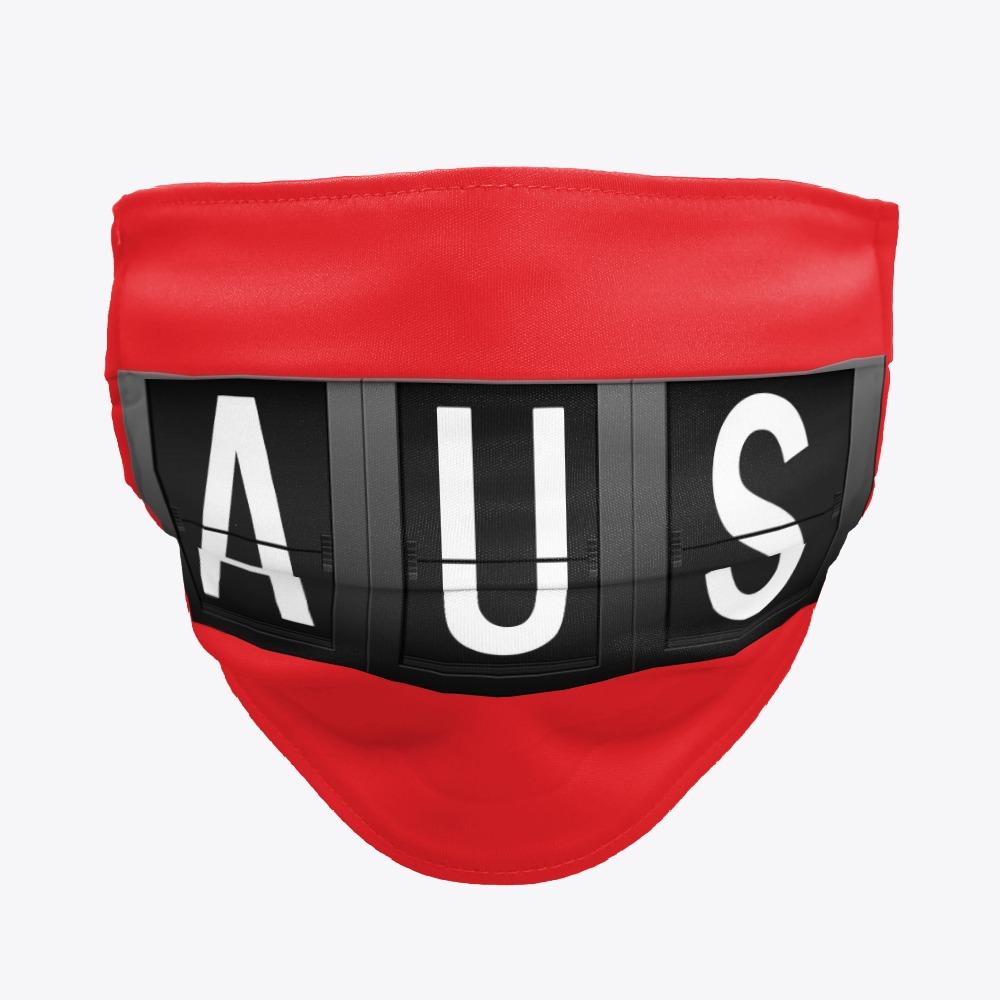 Black AUS Austin-Bergstrom Face masks, White AUS Facemasks
