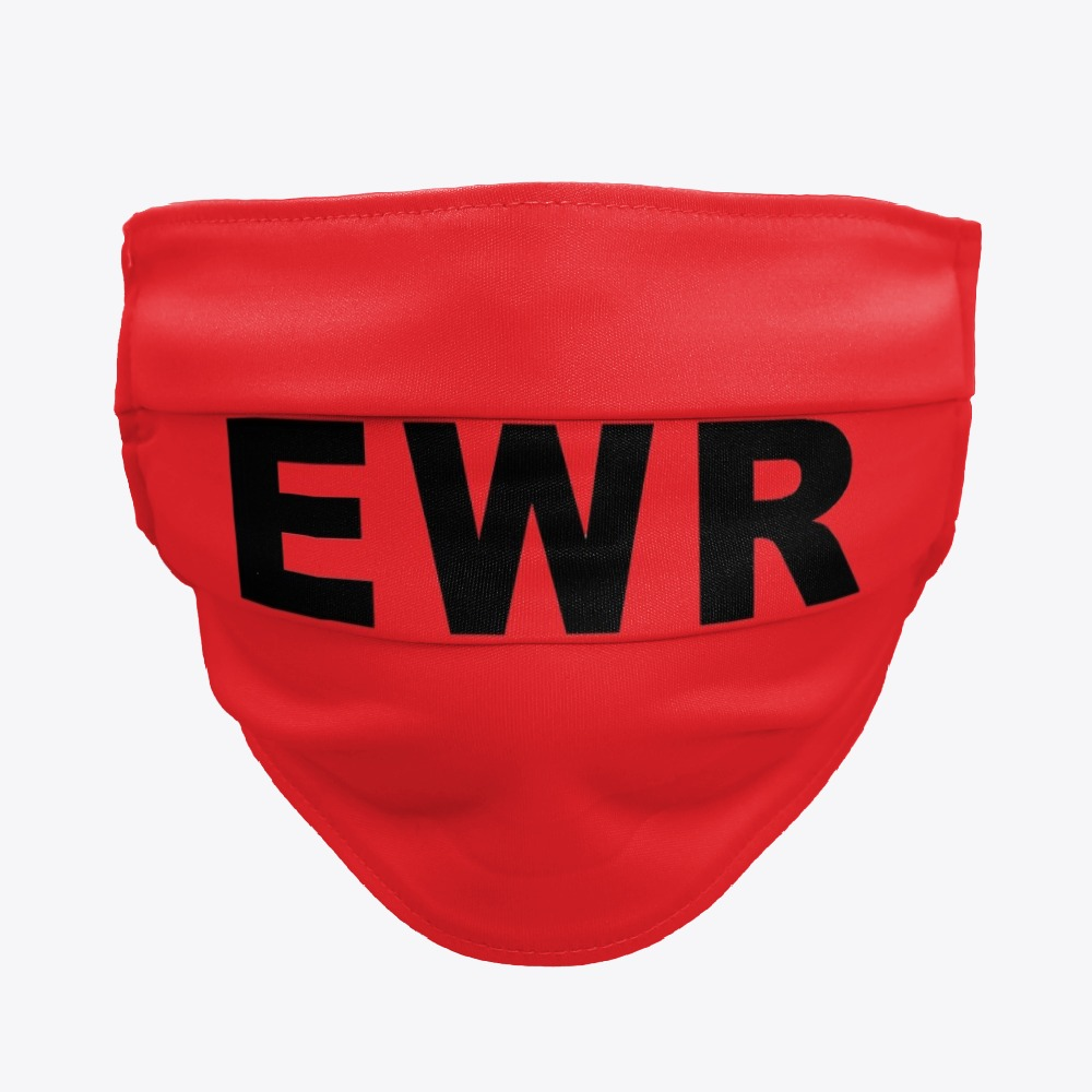 Black Newark Airport Facemasks, White EWR Facemasks
