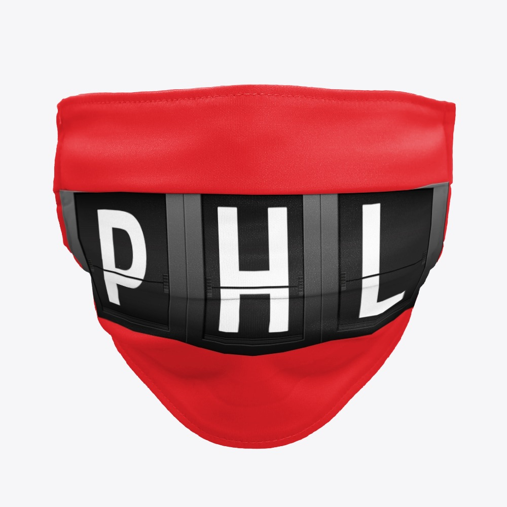 PHL Face mask, Philadelphia PHL International Airport Facemask