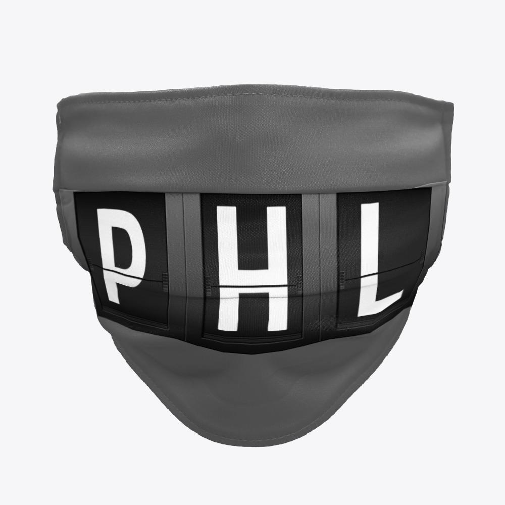 Black Philadelphia Airport Facemasks, White ORD Facemasks