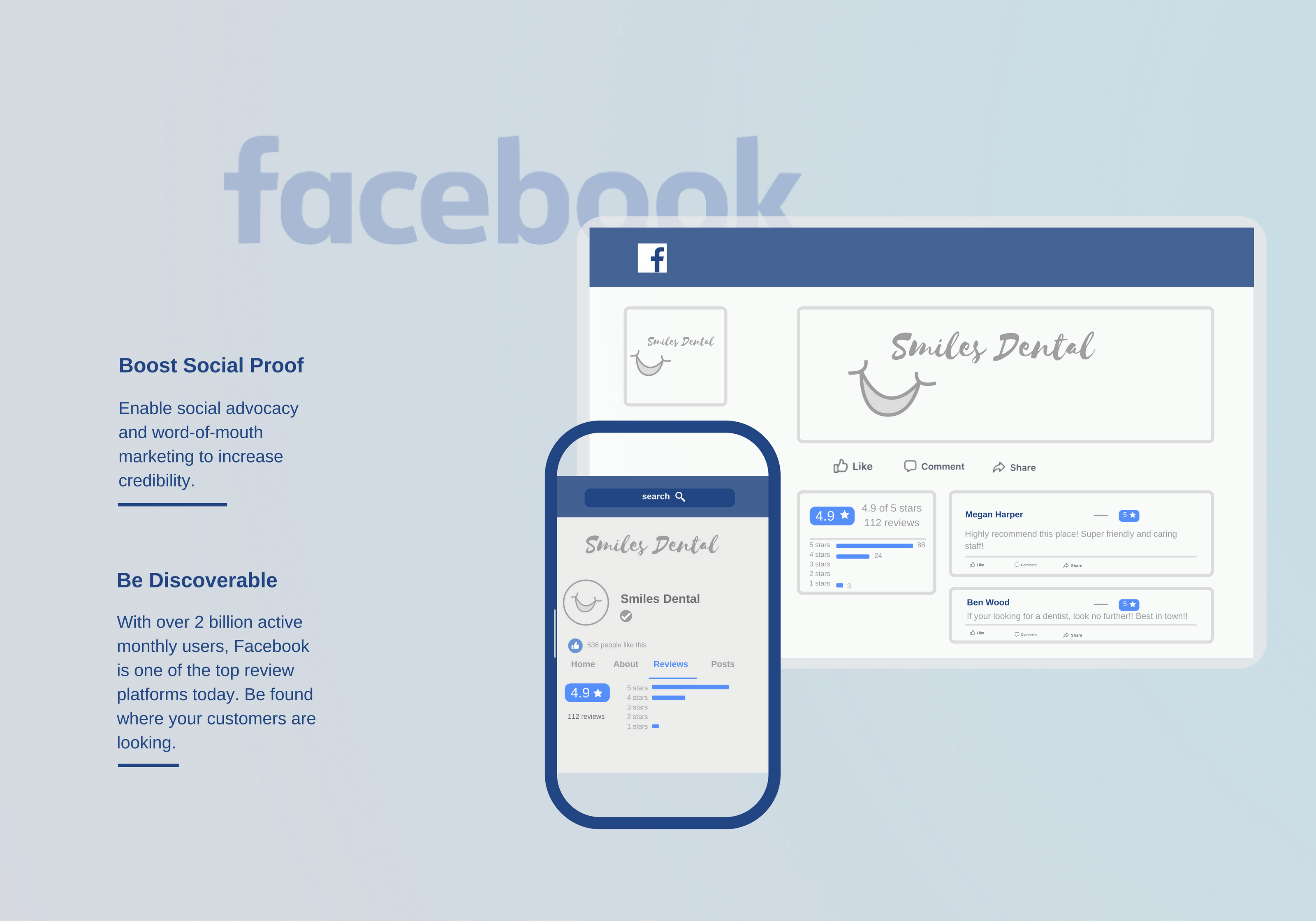 Facebook reviews build social proof