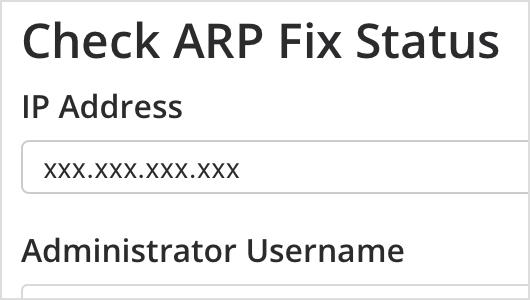 ARP Fix Status