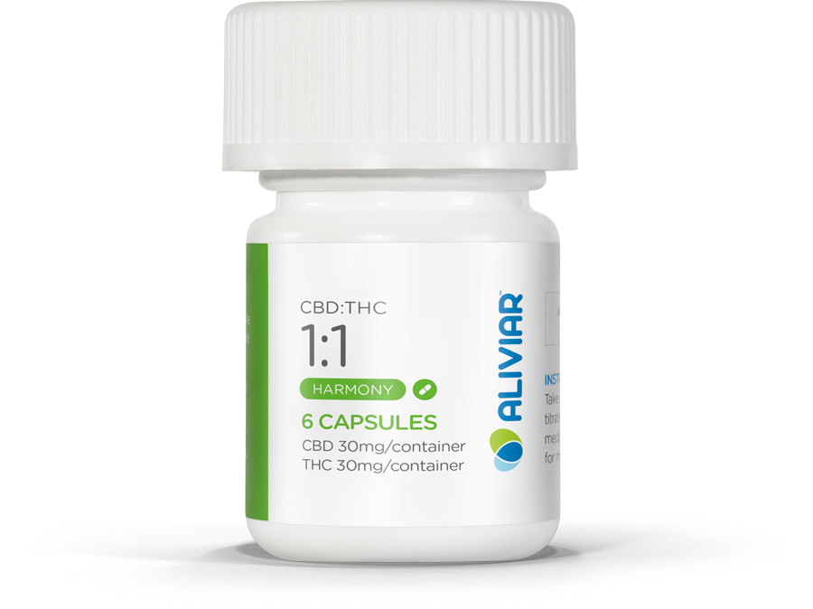 1:1 CBD:THC Capsule (Trial Pack)