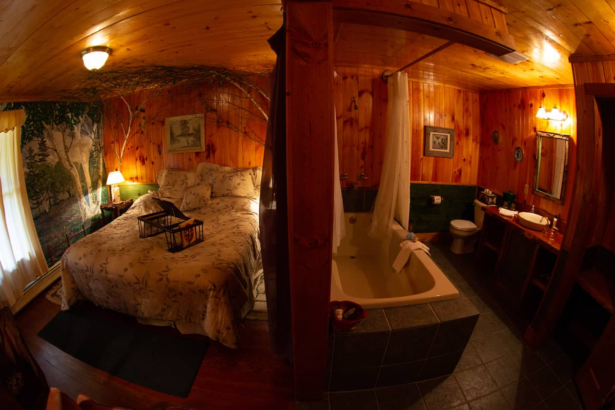 Birch Room with soaking tub