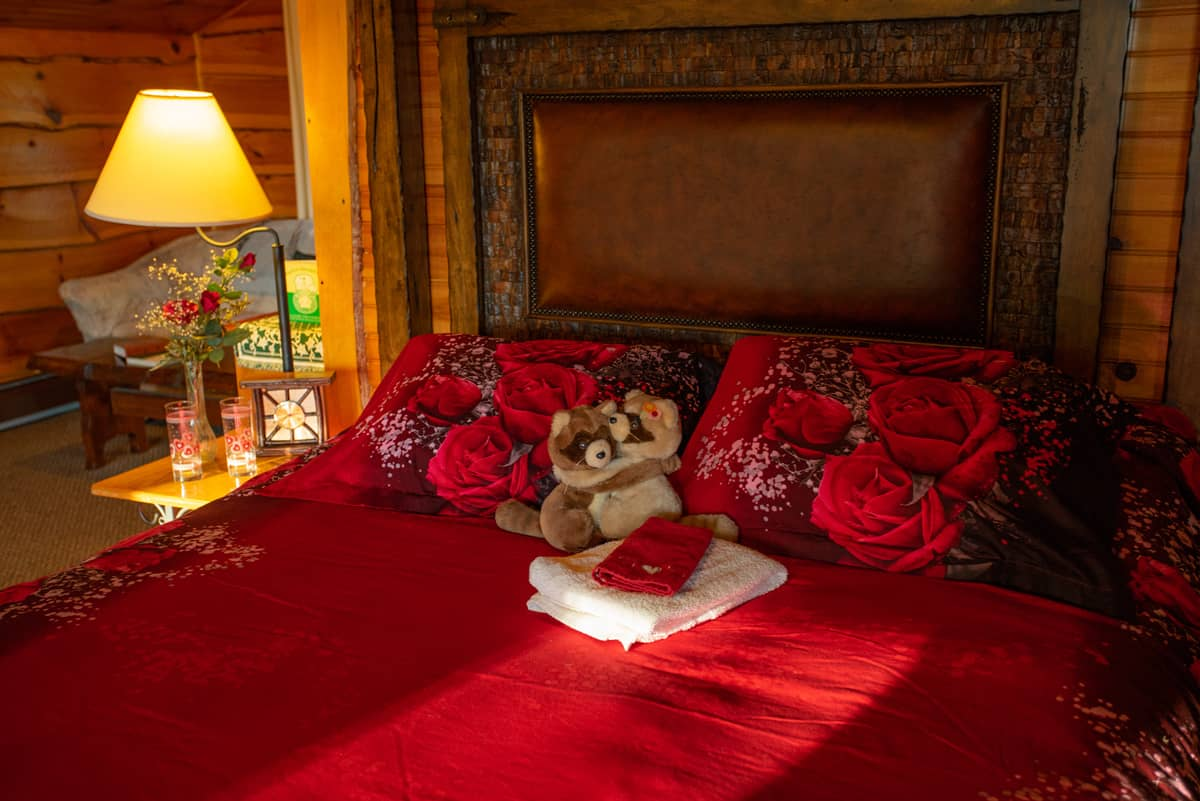 Eagle's Nest Suite with queen bed and romance additions