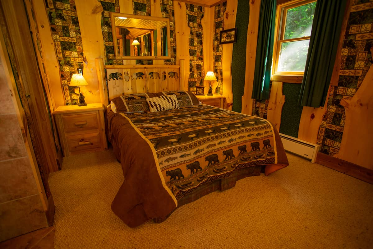 Guides Cabin queen bed