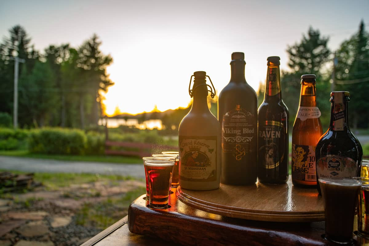 History of Beer Tastings on the Lake View Patio