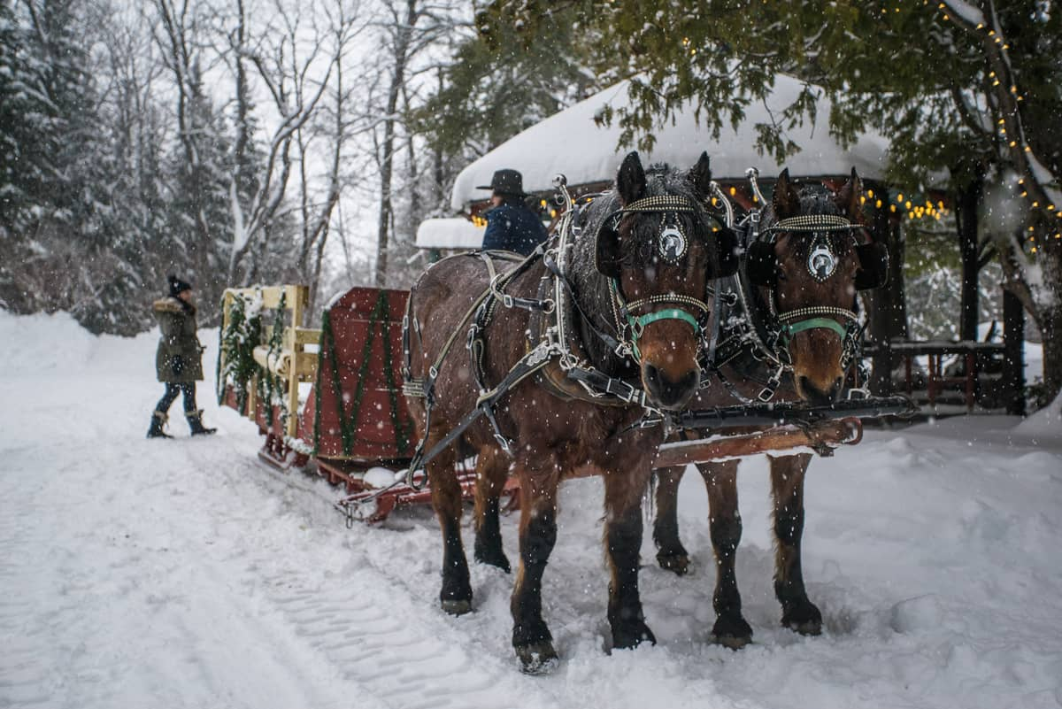 Lantern-lit Sleigh Ride getaway packages in the Adirondacks, NY