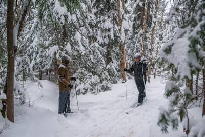 Cross-country Skiing and Snowshoeing at the Lake Clear Lodge & Retreat