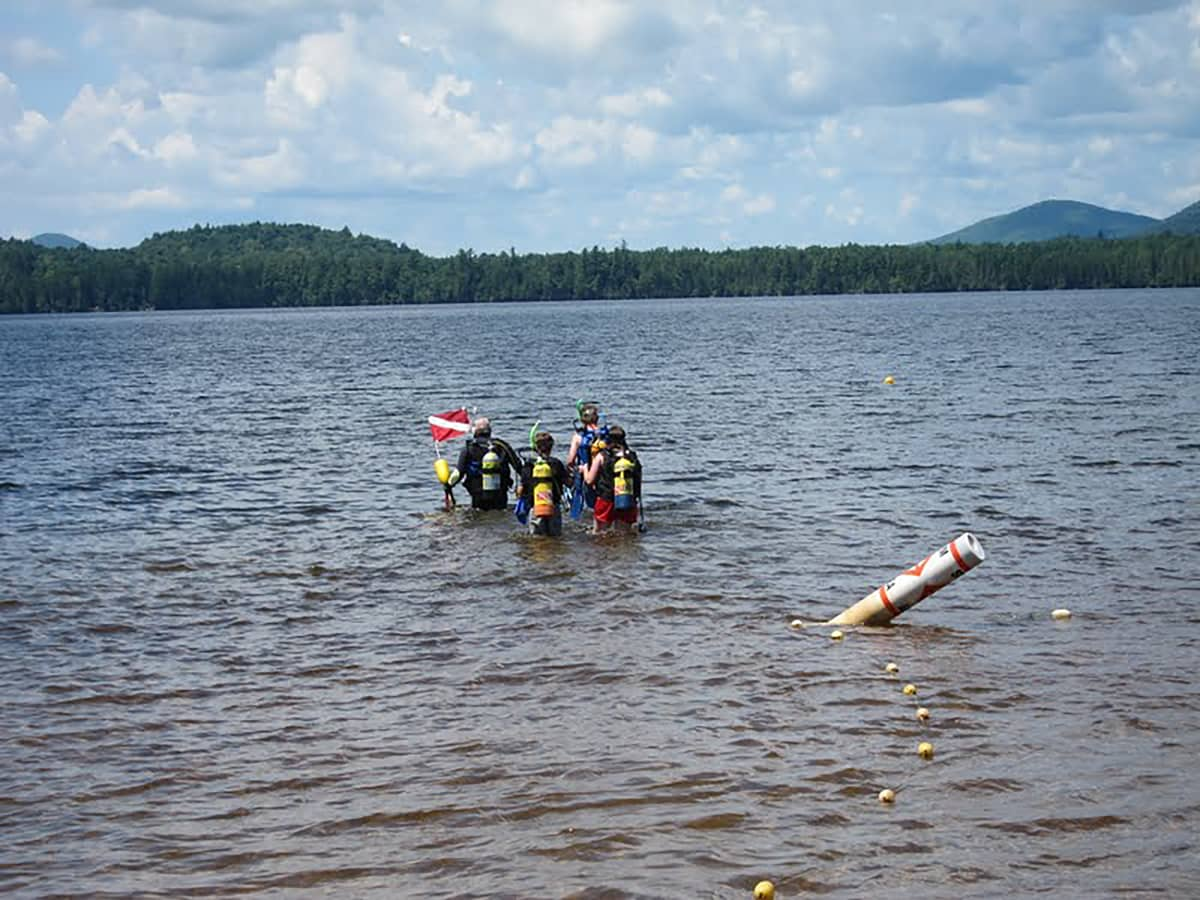 Scuba Divers in Lake Clear, NY at the Lake Clear Lodge