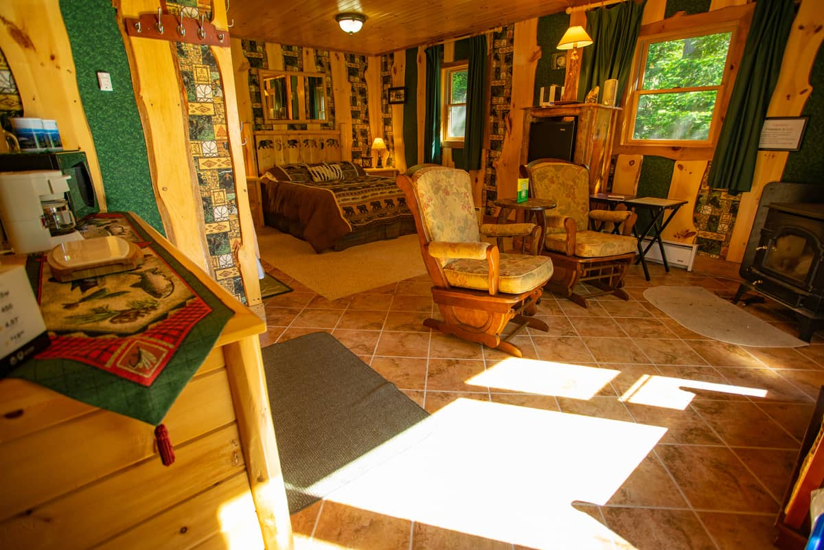Guides Cabin living area