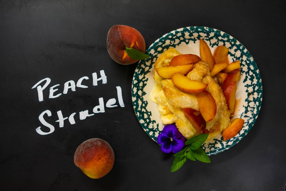 Peaches + Cream Strudel from our Adirondack Alps Restaurant
