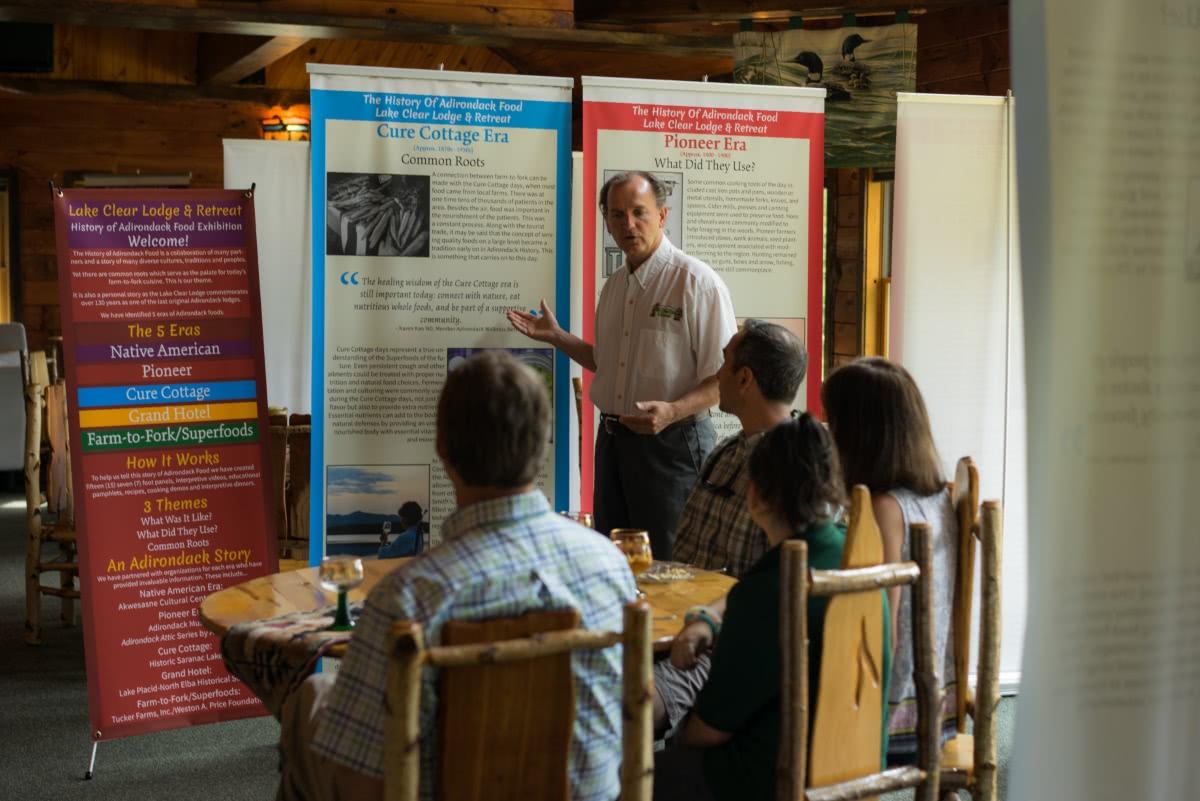 History of Adirondack Food Tasting Experience at the Lake Clear Lodge & Retreat