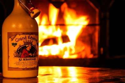Craft beer by the fireplace in our Speakeasy Rathskeller