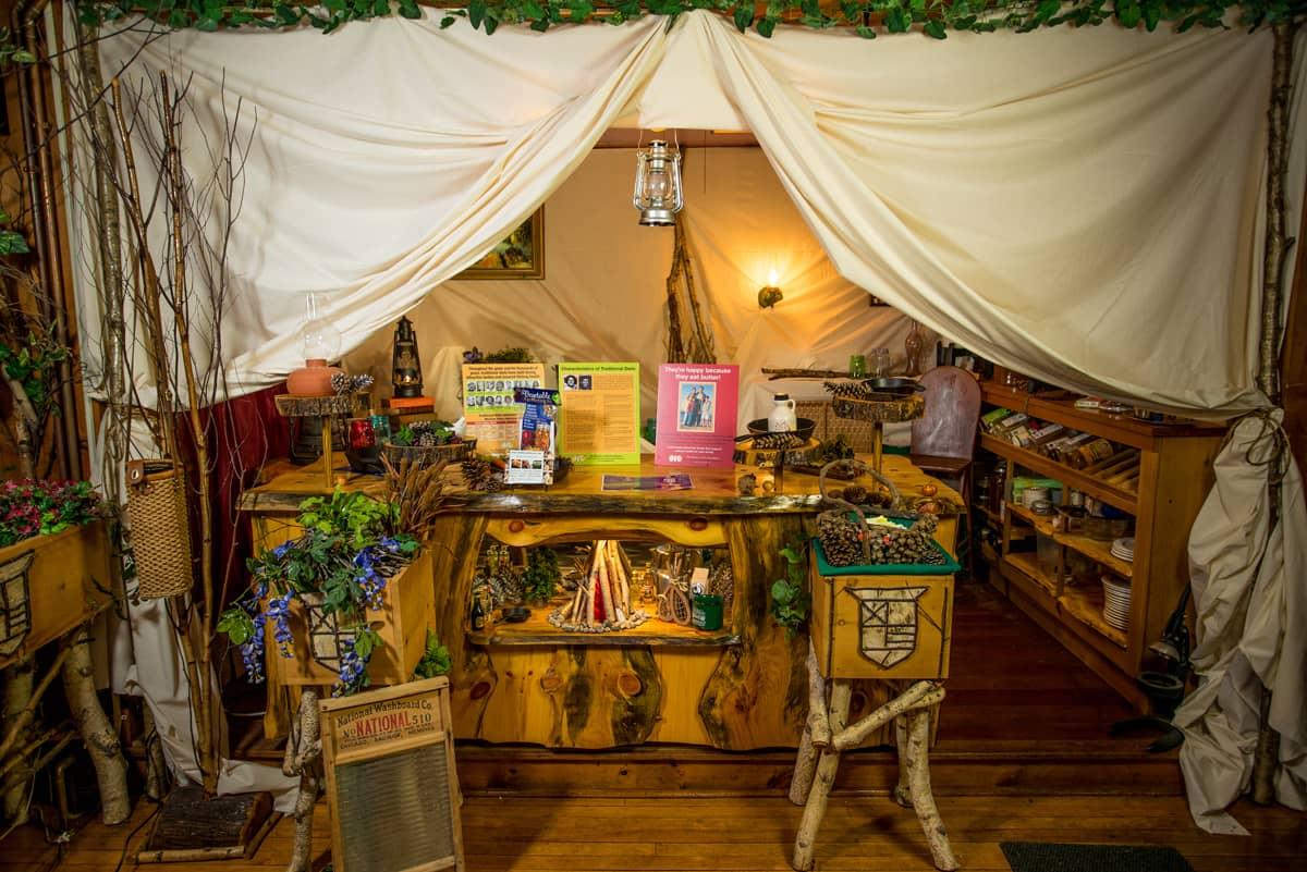 Adirondack Pioneer Healing Woods exhibit at the Lake Clear Lodge & Retreat