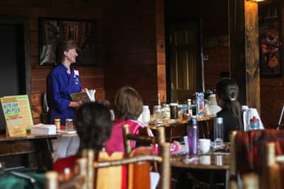 Cathy Hohmeyer giving a Nutritional Energetics Workshop