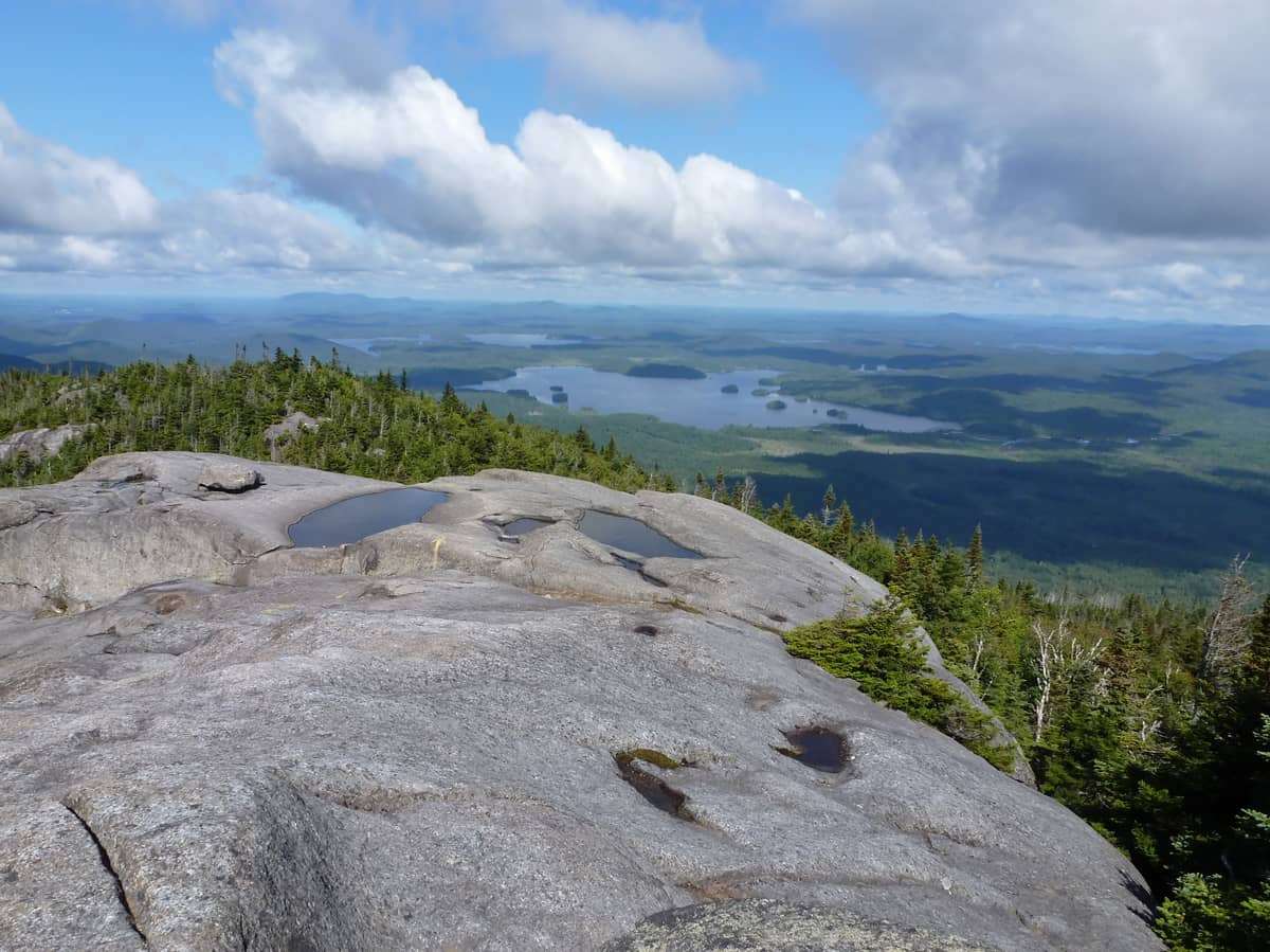 The View From the Summit of Ampersand Mountain - Photo by Bob Brand