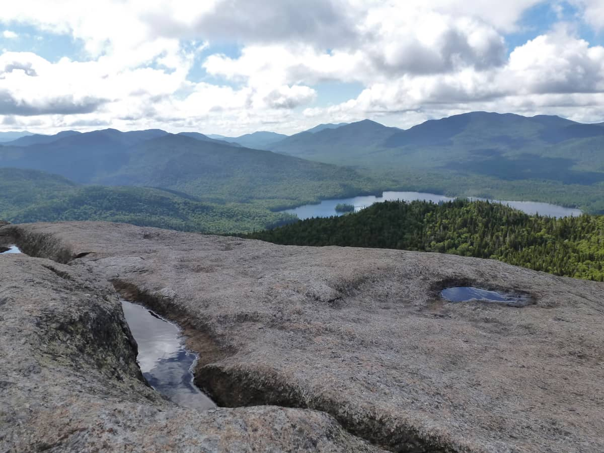 Summit view from Ampersand Mountain. Photo by Bob Brand.