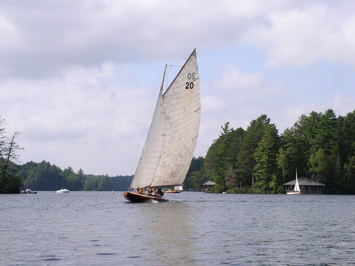 Idem Sailboat on Upper St. Regis Lake (Photo by Bob Brand)
