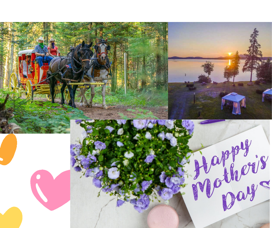 Mother's Day Card with Fresh Flowers