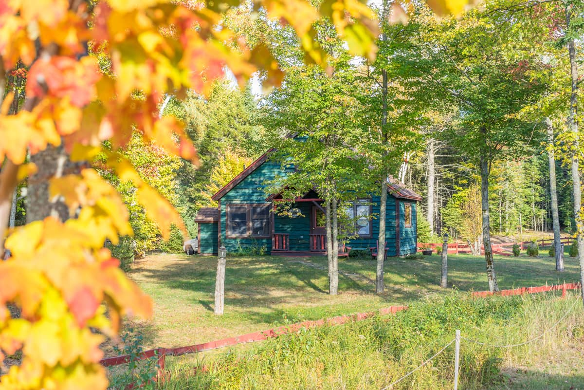 Our writers chalet in the fall