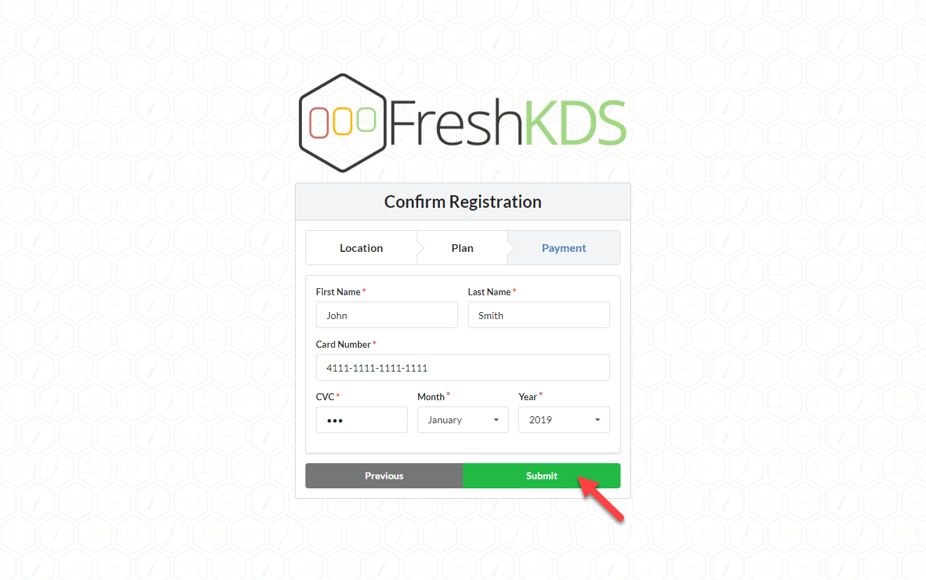 Fresh KDS Signup Step 6