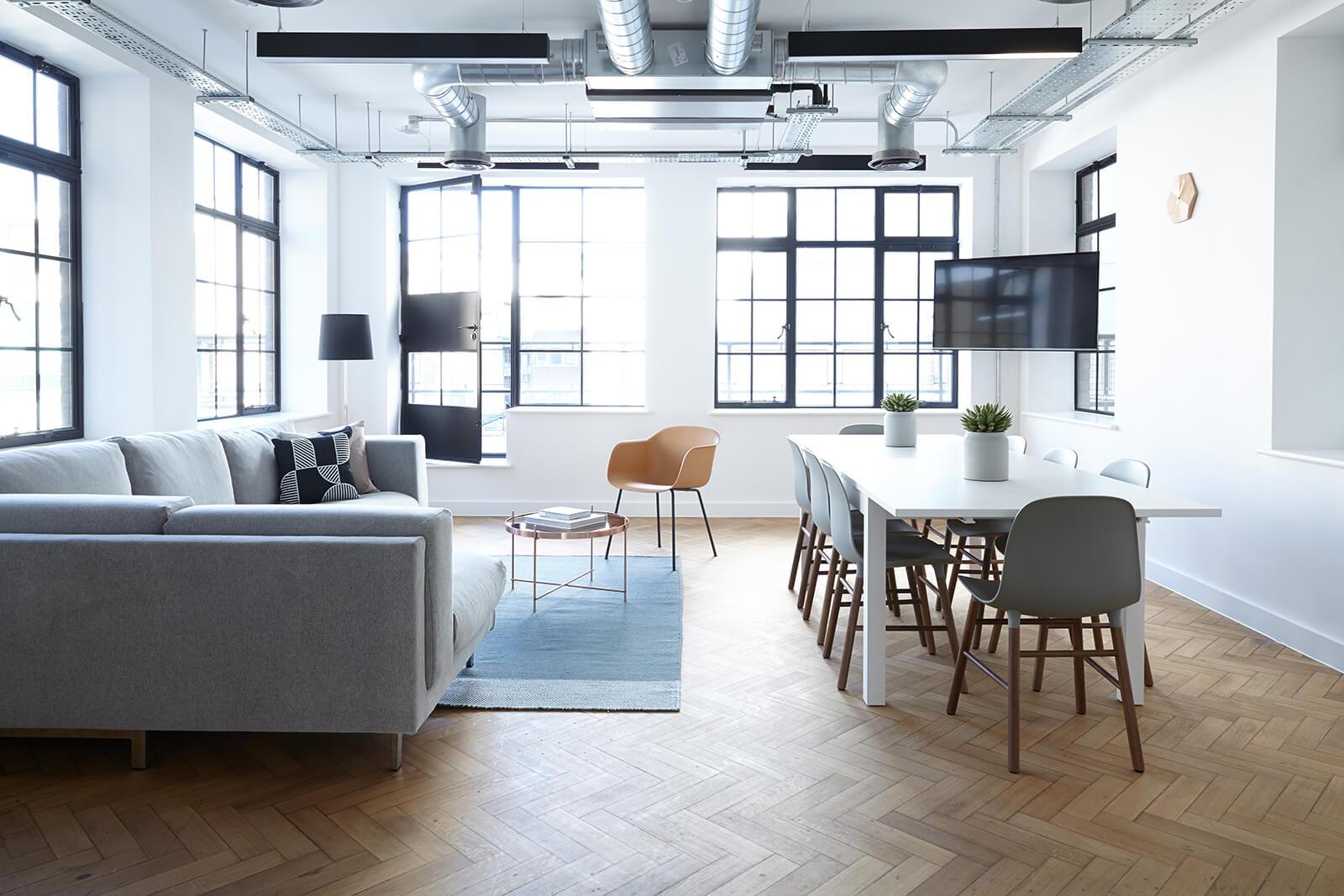 minimalistic office setting