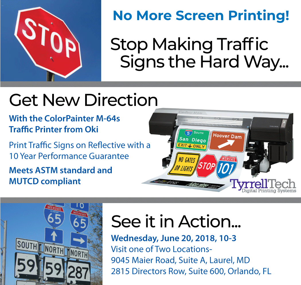 Stop Making Traffic Signs the Hard Way... Get New Direction With the ColorPainter M-64s Traffic Printer from Oki