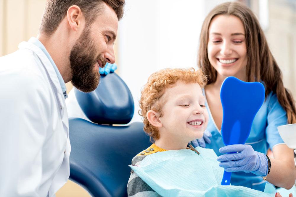 Photo of child in dentist