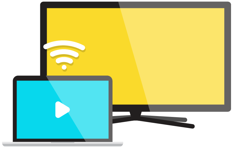ícone de chromecast e smart TV