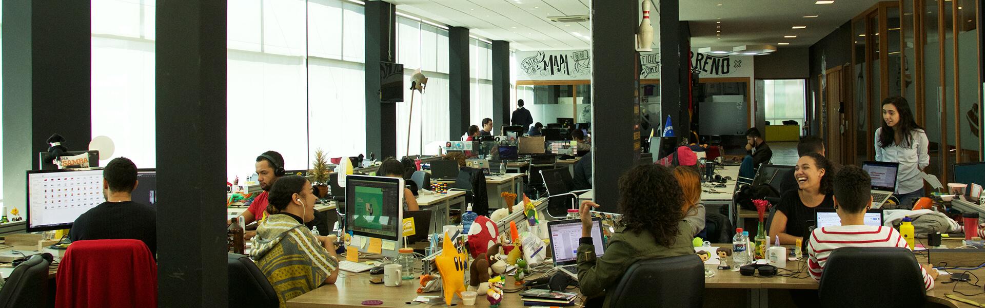 foto do escritório da samba tech