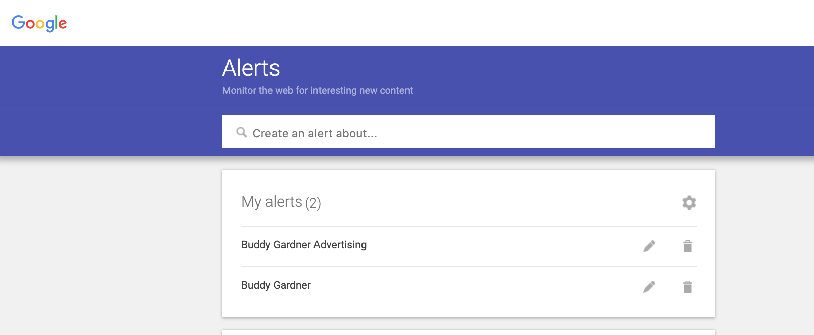 it's easy to set up google alerts