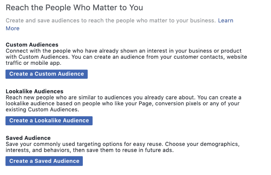 Using Facebook Pixel to create a targeted audience
