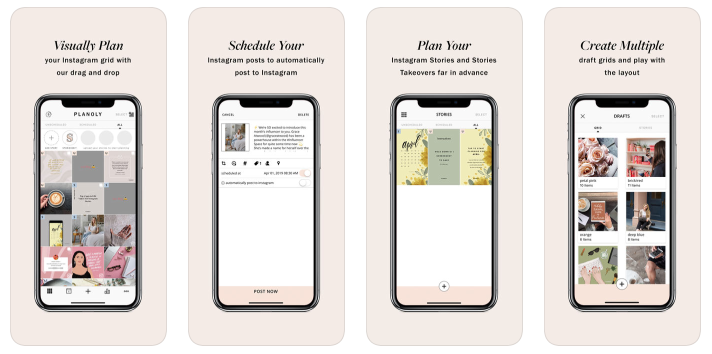 Planoly Instagram Scheduler Features