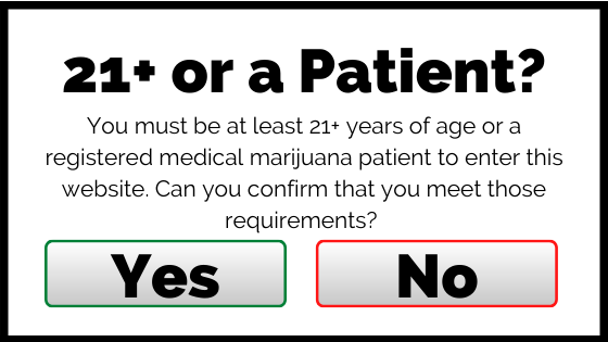 age gate for marijuana dispensary website