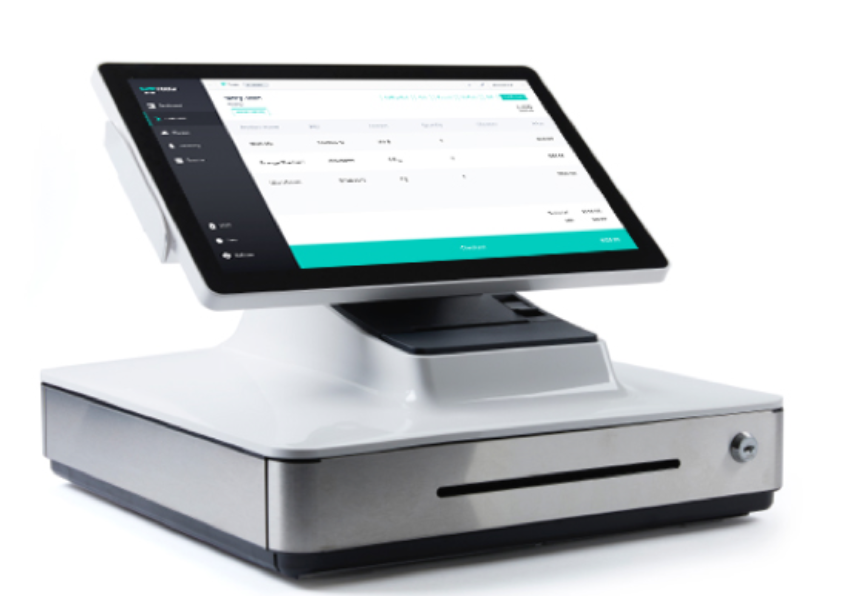 screenshot of weedmaps POS system with cash register