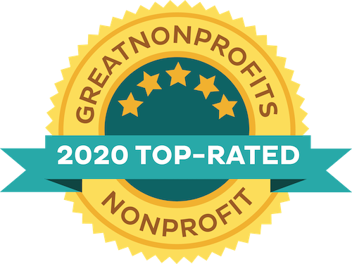 Great Nonprofits 2020 top-rated badge
