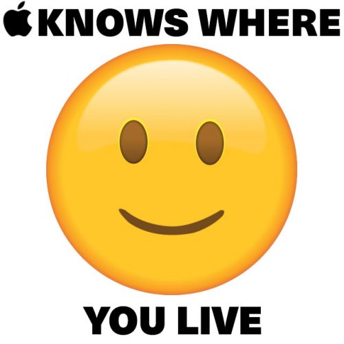 Apple knows where you live