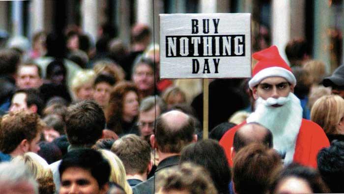 buy nothing day santa