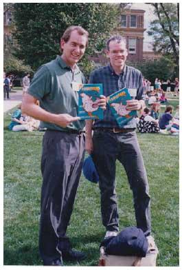 1990: ERIC UTNE & BILL MCKIBBENHOLDING ADBUSTERS #3