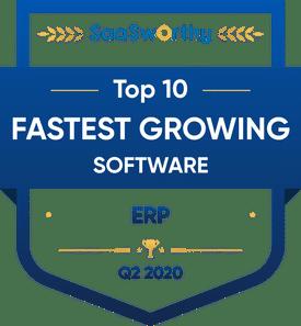 SaaSworthy Names Genius ERP Fastest Growing Software in ERP - Enterprise Resource Management