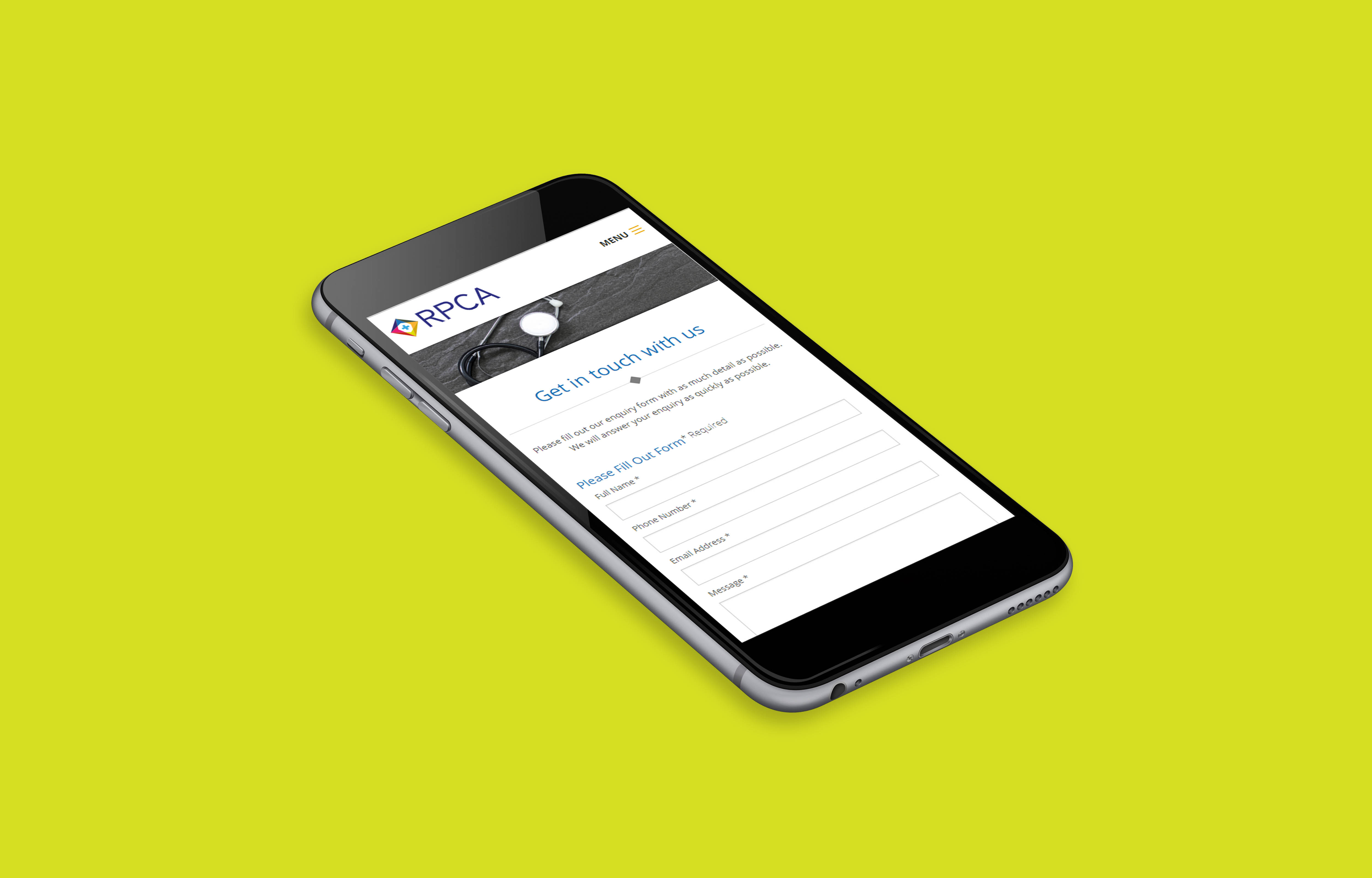 mobile first web design for Reading Primary Care Alliance