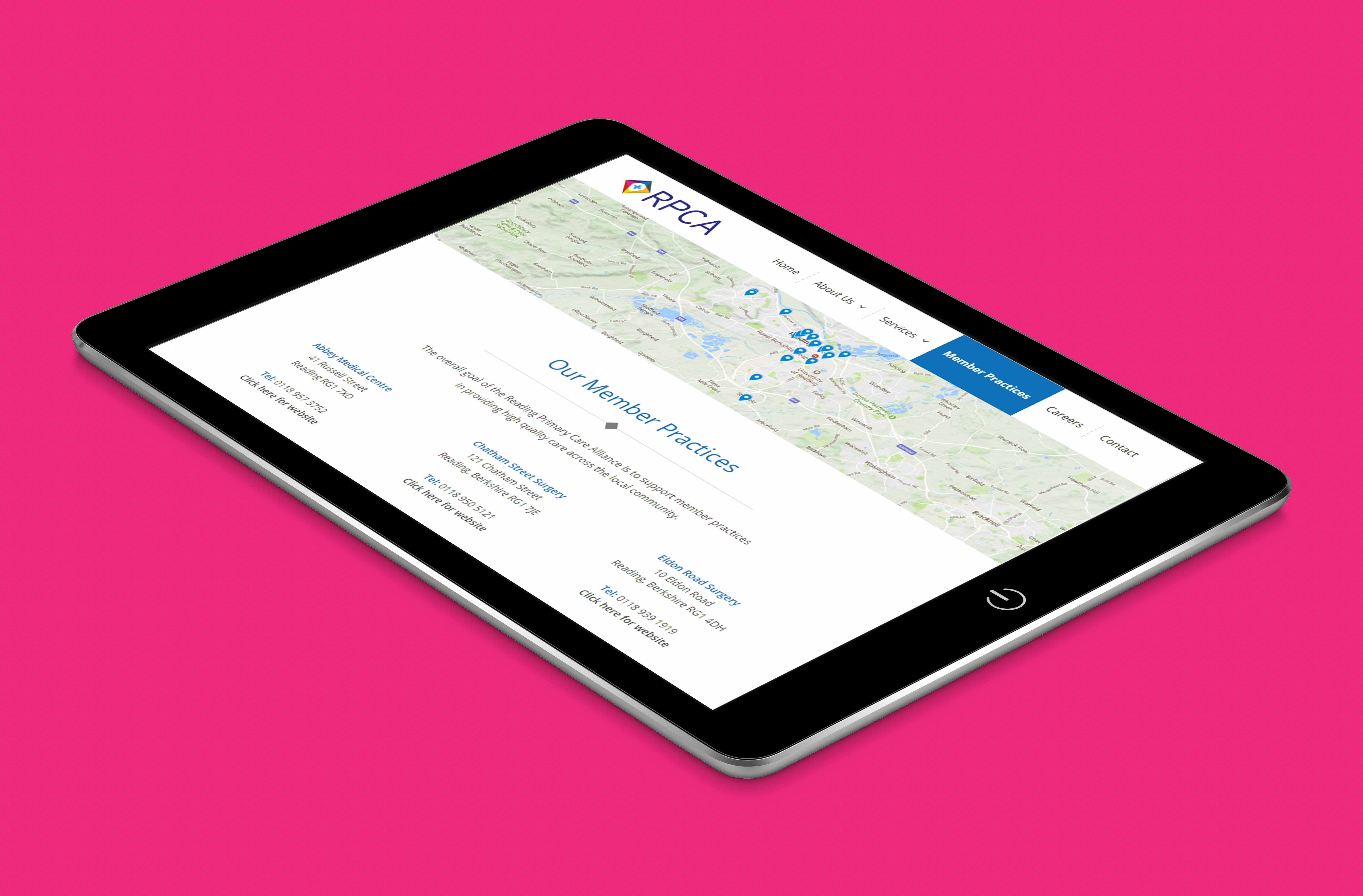responsive web design for Reading Primary Care Alliance