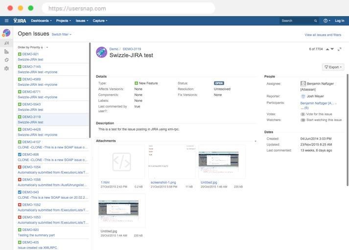 jira usersnap modern bug tracking cx in 2018