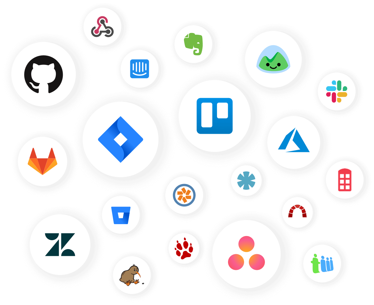 Usersnap offers 20+ integrations - a list of logos of supported integrations