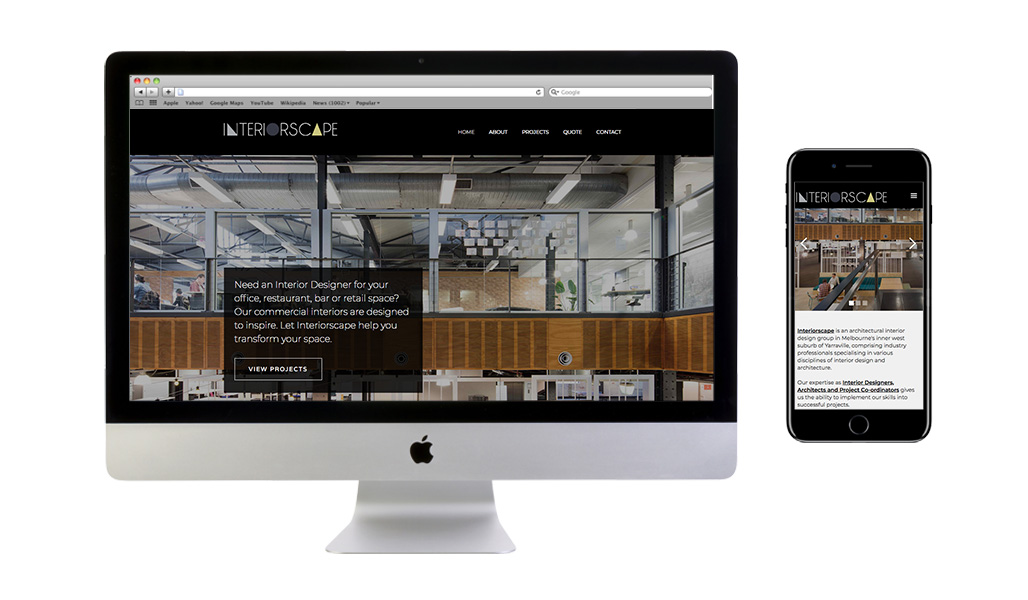 Interiorscape Webflow Content Managed Website