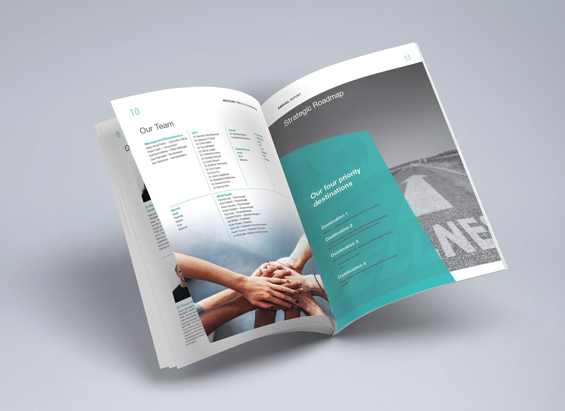Graphic design of Annual Report