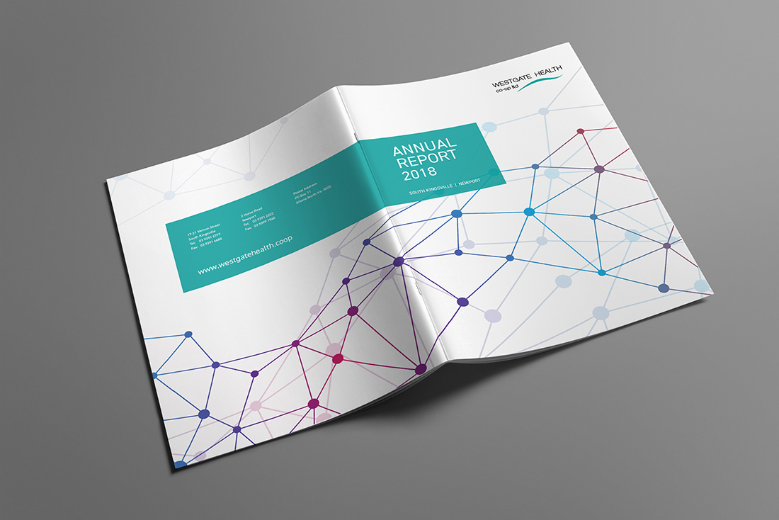 Annual Report Graphic Design for Westgate Health Co-op