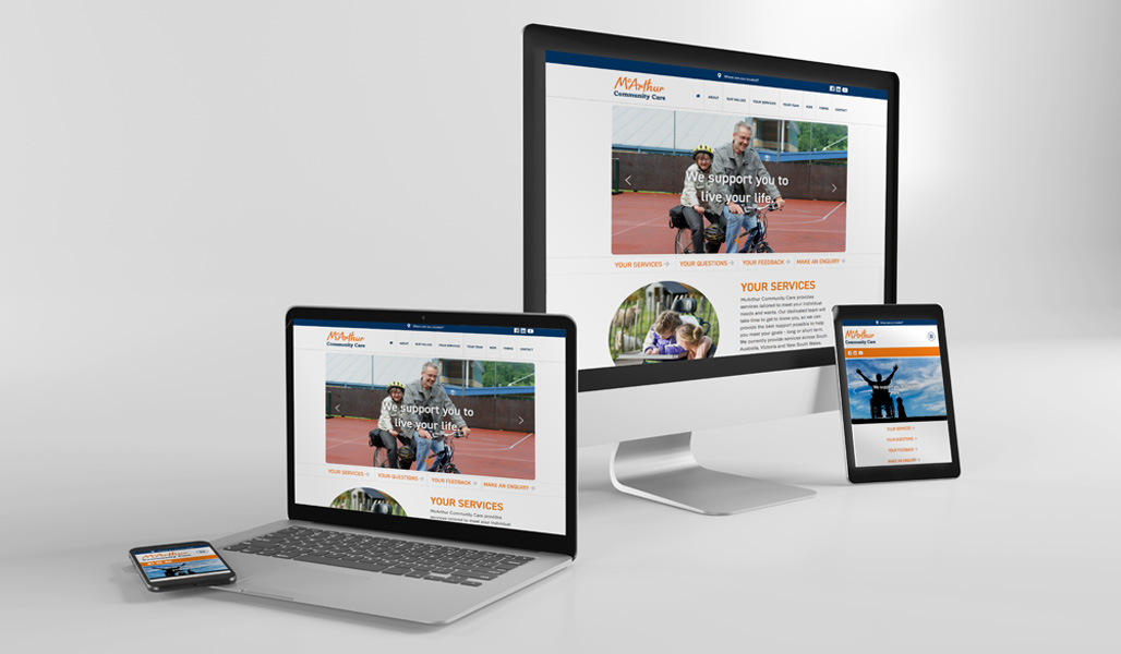 McArthur Community Care Website Design Melbourne